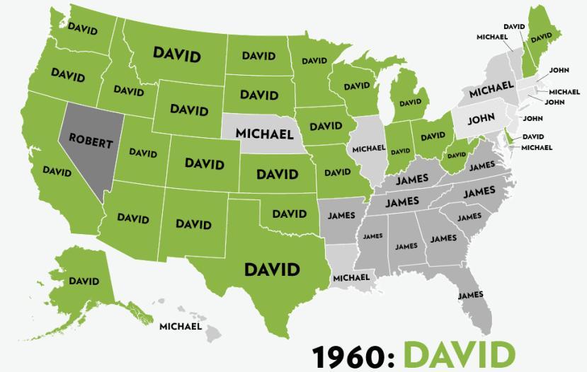 Niegdyś najpopularniejsze męskie imiona w Stanach