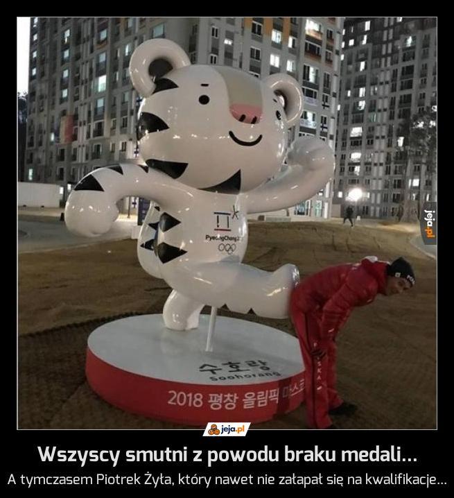 Wszyscy smutni z powodu braku medali...