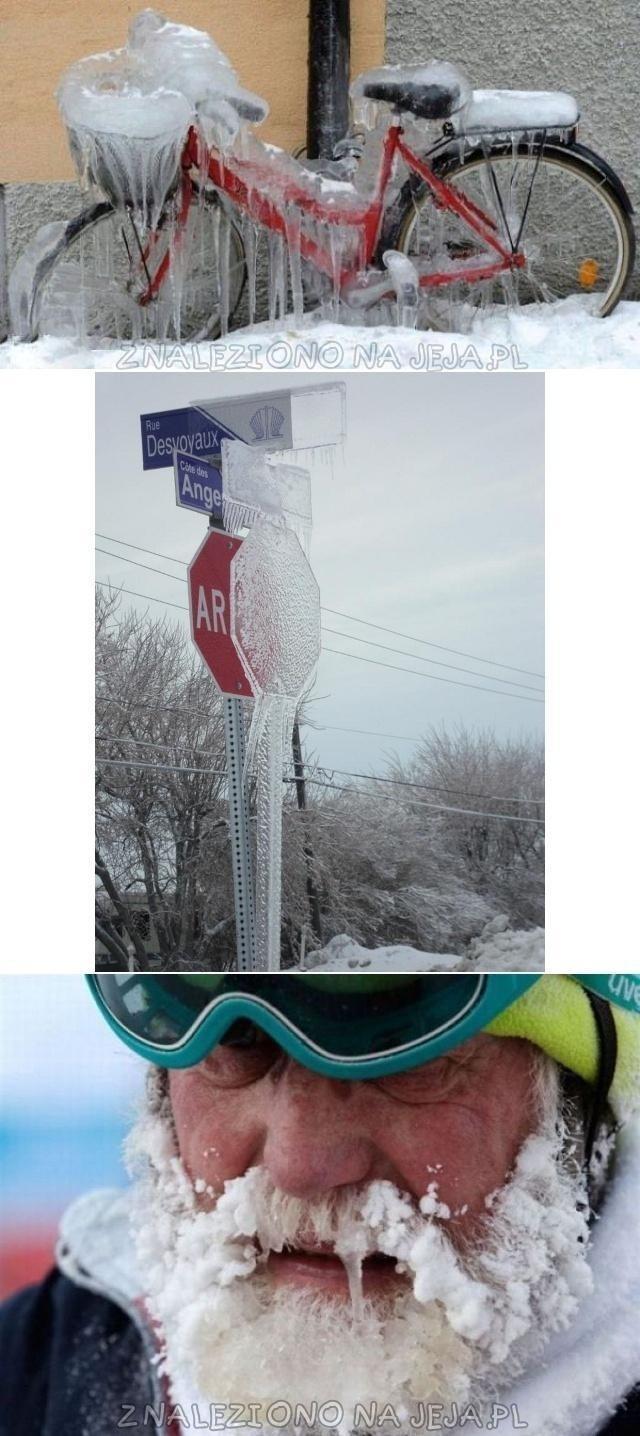 Zimą wszystko zamarza