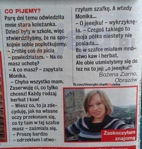 Co pijemy?
