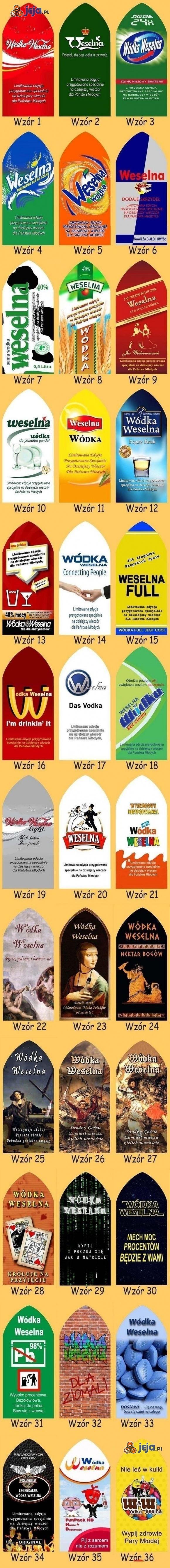 Wódki Weselne