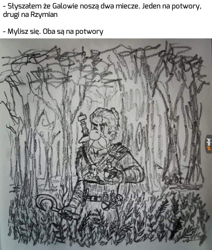 Asteriks, wiedźmin