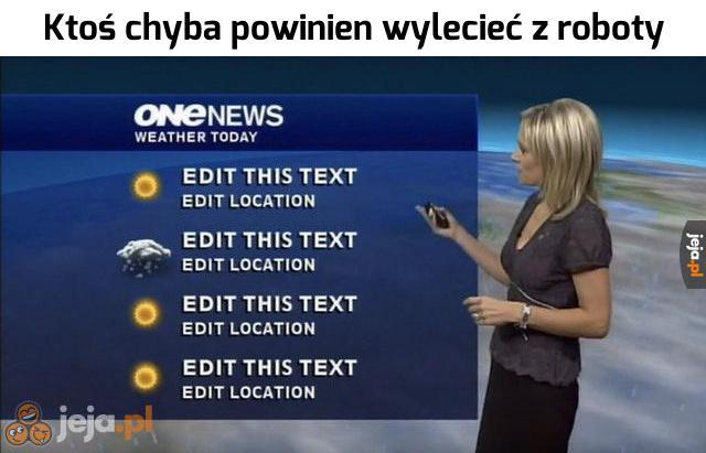 Dziwna pogoda będzie