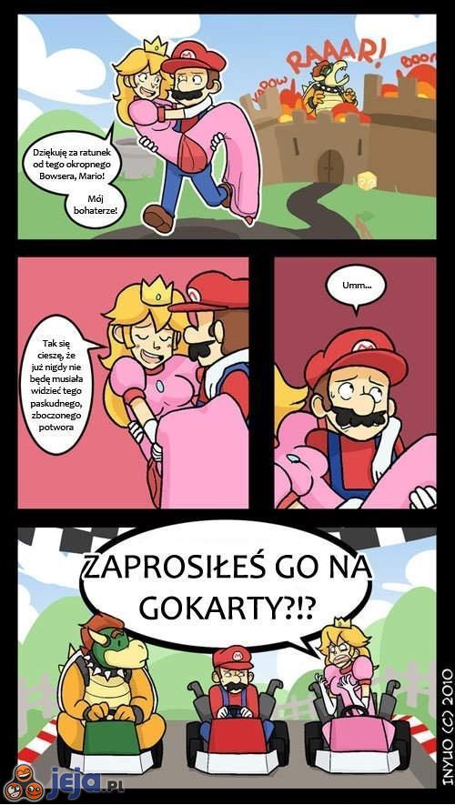 Mario, księżniczka i smok...
