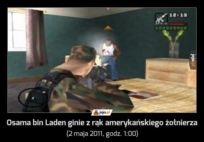 Osama bin Laden ginie z rąk amerykańskiego żołnierza