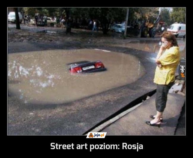 Street art poziom: Rosja
