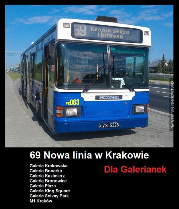 Nowa linia w Krakowie dla galerianek