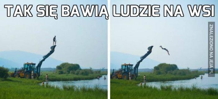 Tak się bawią ludzie na wsi