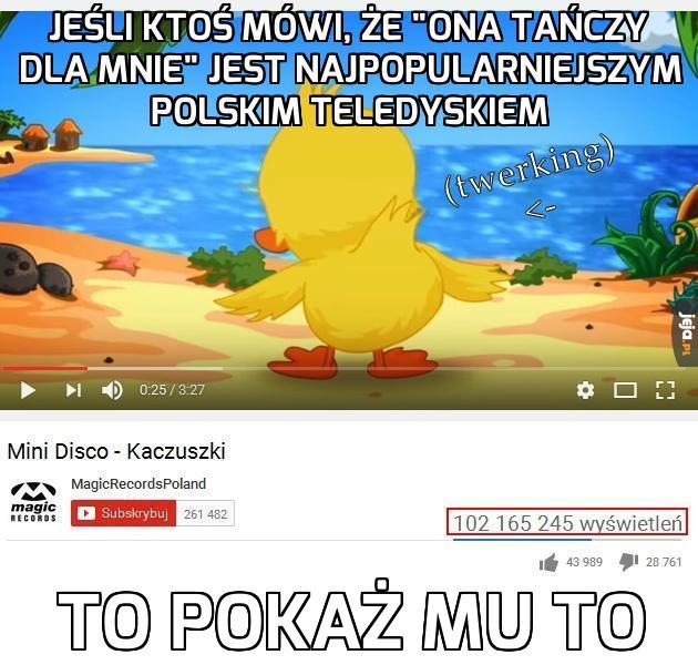 Najpopularniejszy polski teledysk