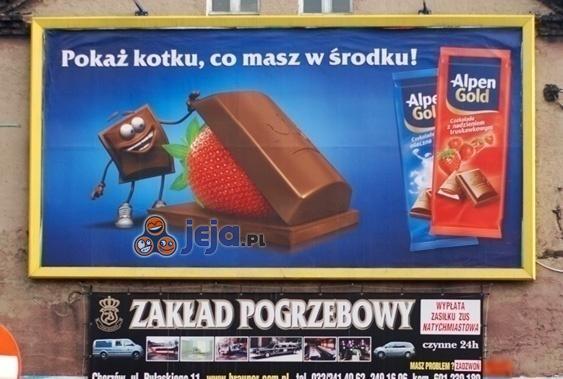 Niefortunne ułożenie reklam
