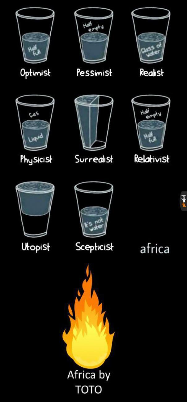 Poglądy filozoficzne na przykładzie szklanek - ciąg dalszy