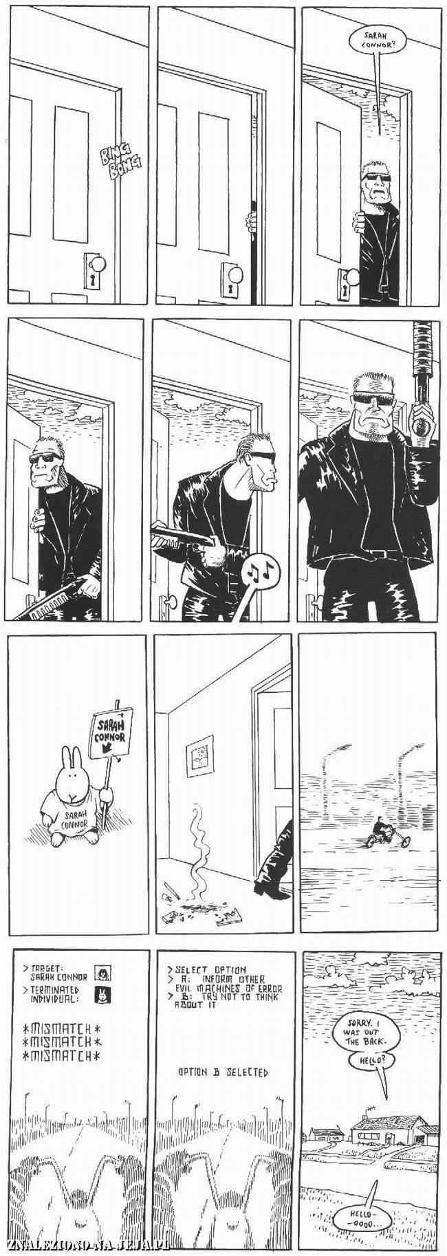 Samobójstwa zajączka: Zajączek i terminator
