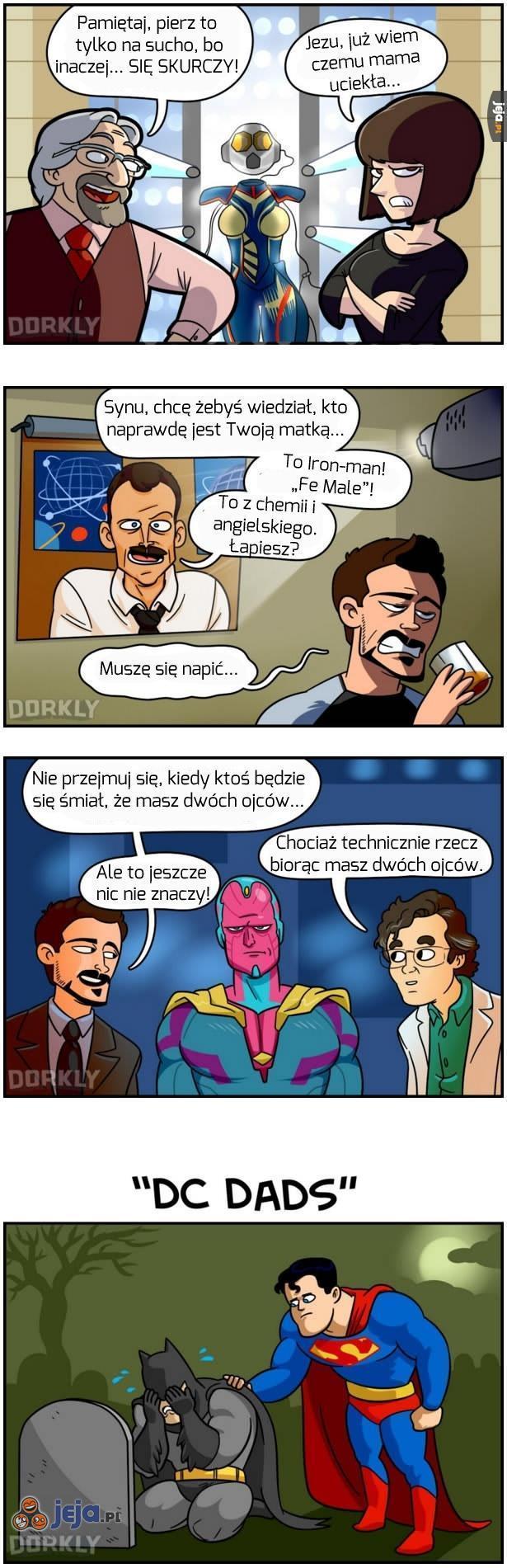 Ojcowie z Marvela vs Ojcowie z DC