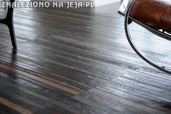 Podłoga ze skórzanych pasków