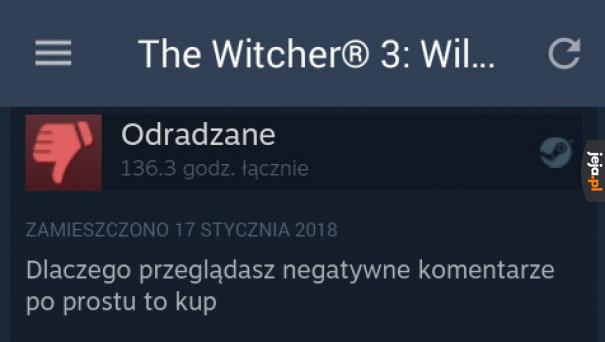 Negatywna opinia