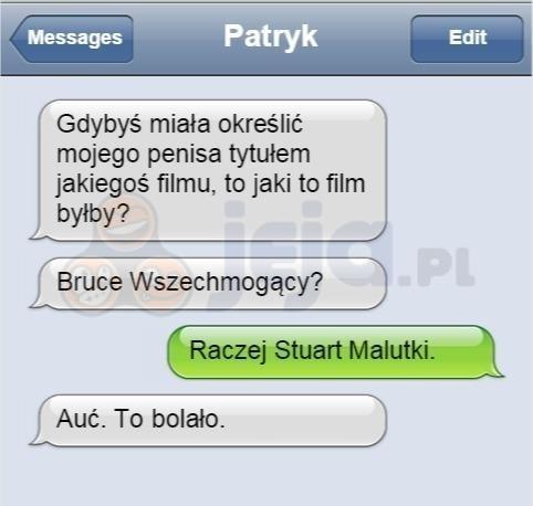 Biedny Patryk...