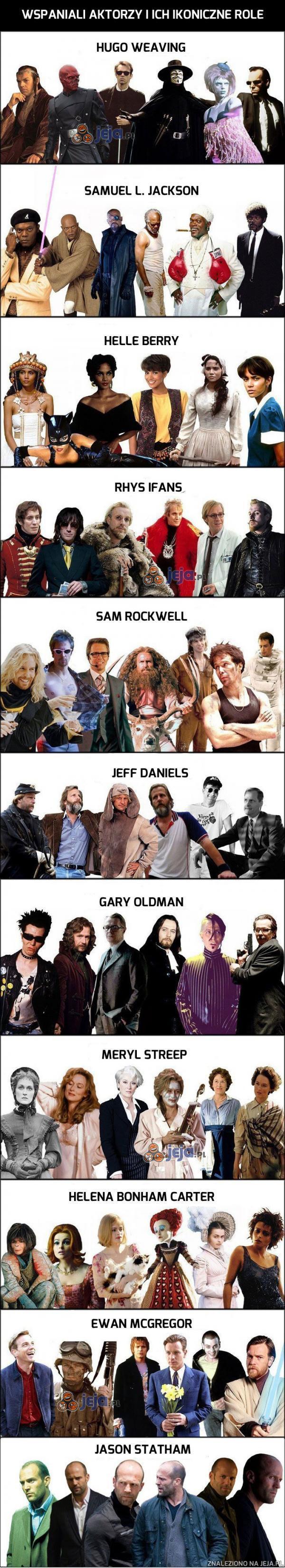 Wspaniali aktorzy i ich ikoniczne role