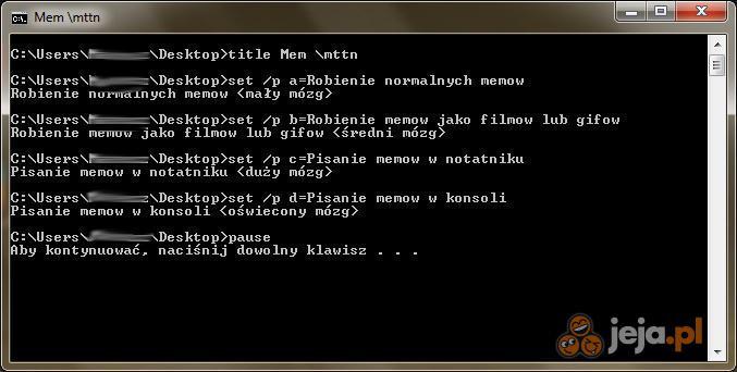Pisanie memów level 999