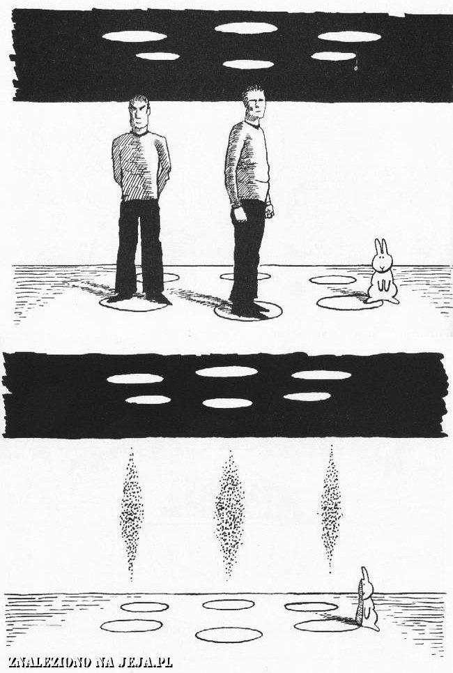 Samobójstwa zajączka: Zajączek i teleportacja