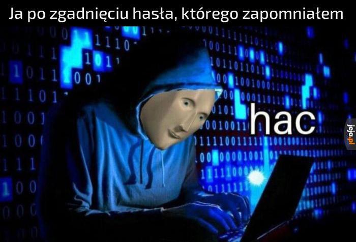 Haker jak się patrzy