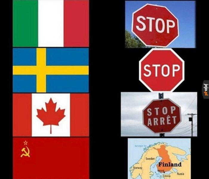 Stop w różnych krajach