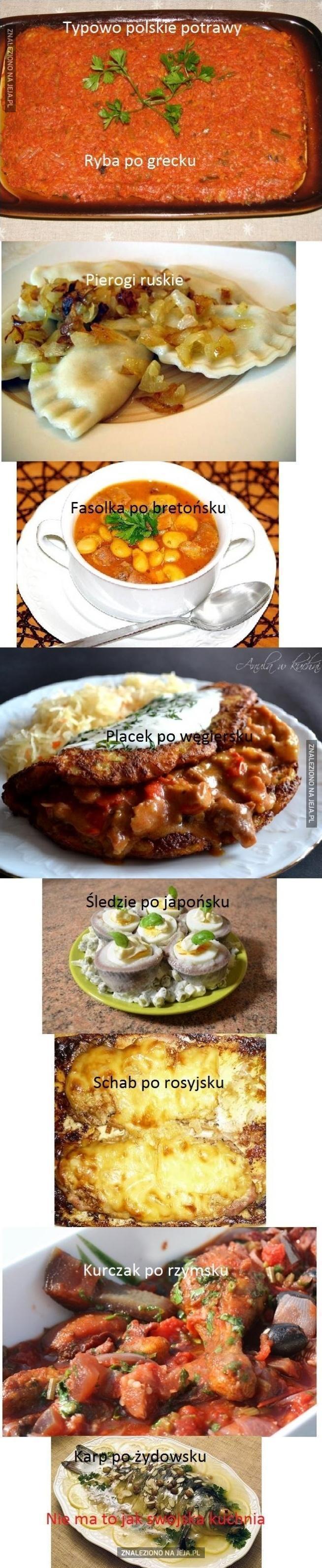 Typowo polskie potrawy