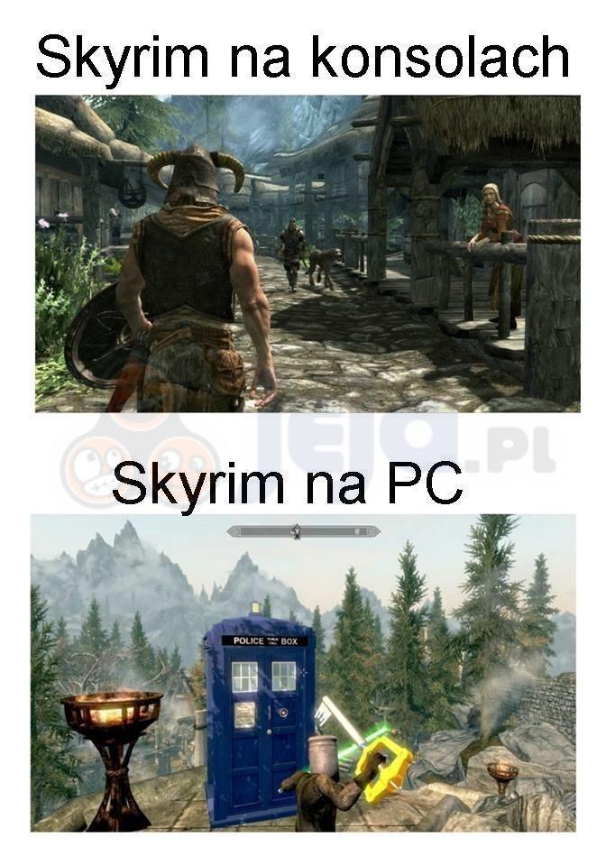 Skyrim na konsolach i PC