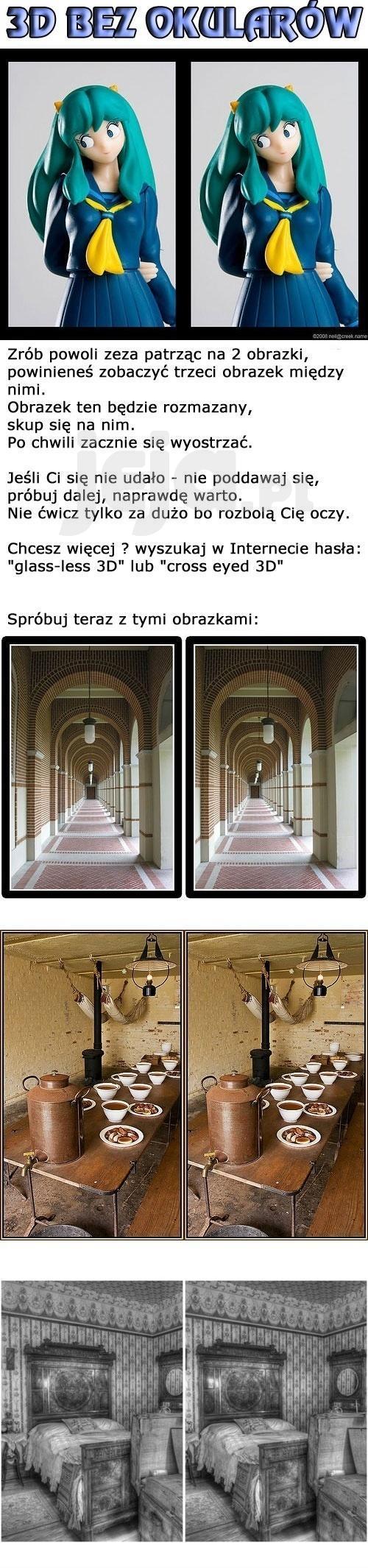 Czy twoje oczy umieją odczytać JPG w 3D?