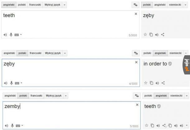 Dzięki, tłumaczu, jak zwykle pomogłeś