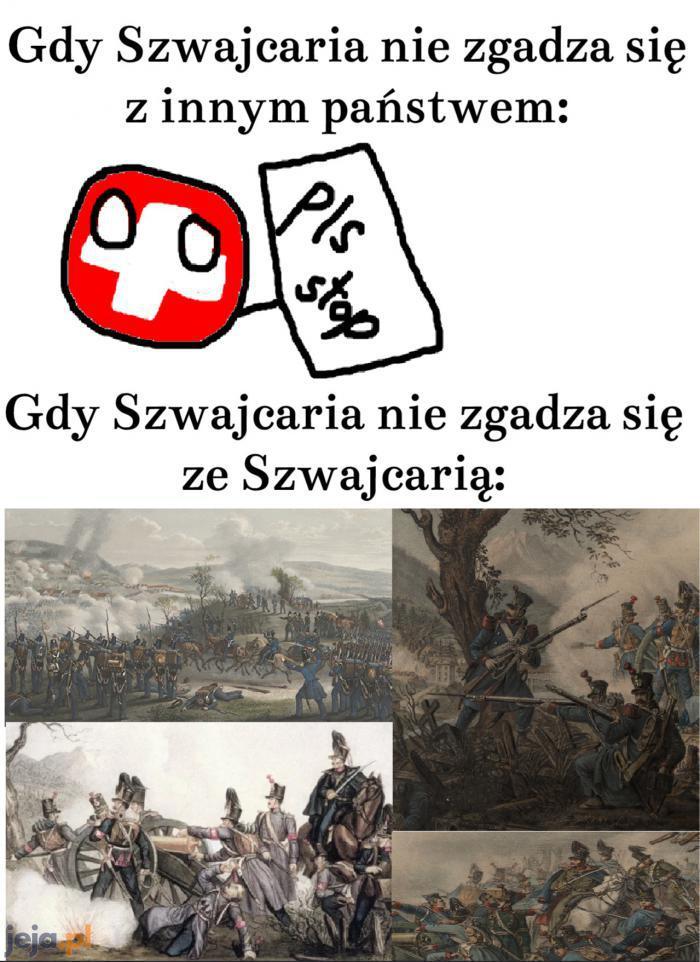 Podczas szwajcarskiej wojny domowej zginęło jedynie około 100 osób
