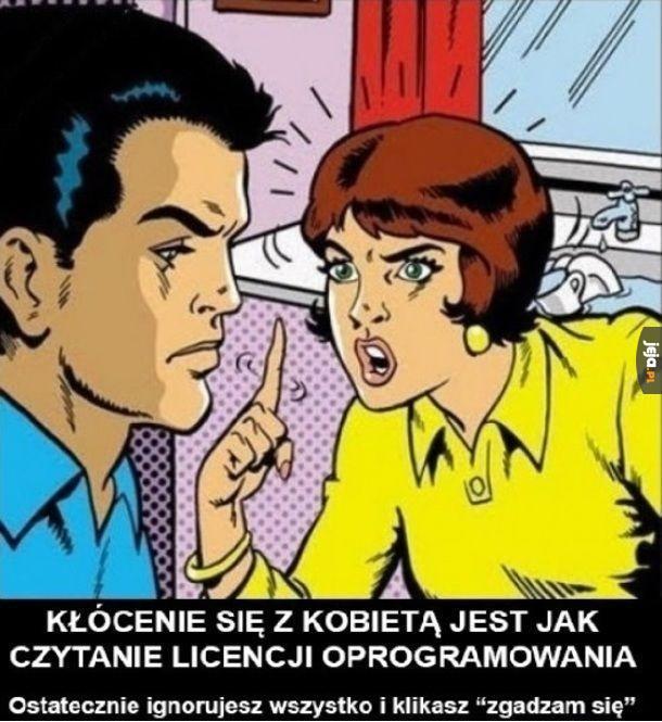 Kłócenie się z kobietą