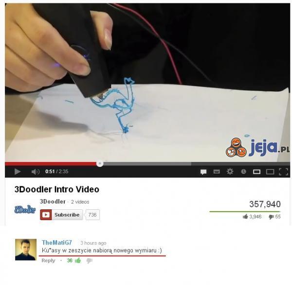Długopis 3D
