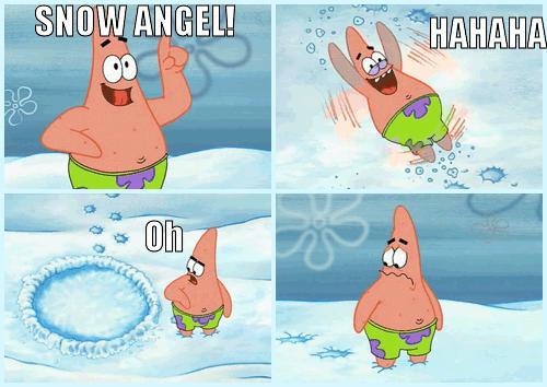 Aniołek na śniegu...