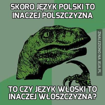 Skoro język polski to inaczej polszczyzna