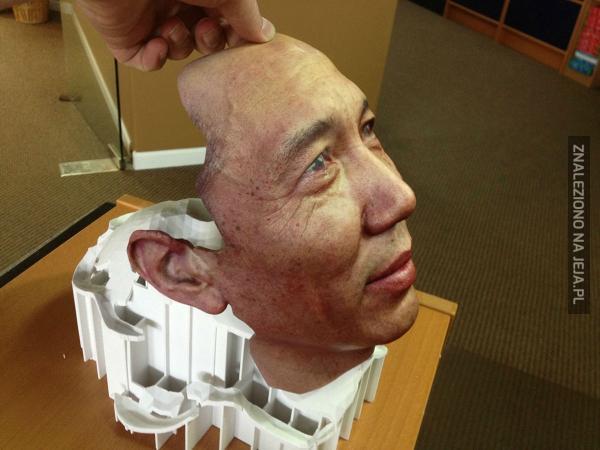 Twarz drukowana techniką 3D