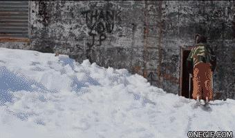 Na nartach w bloku