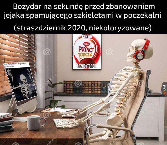 Szkielety - tak, spam - nie