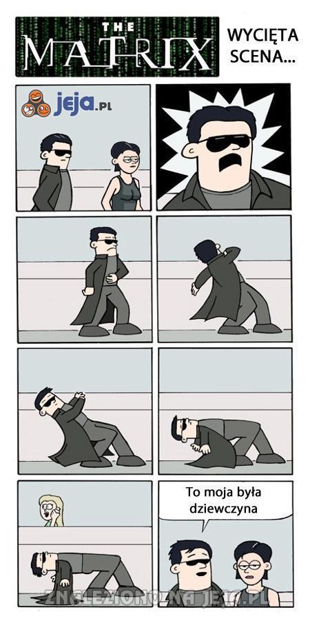 Wycięta scena z matrixa