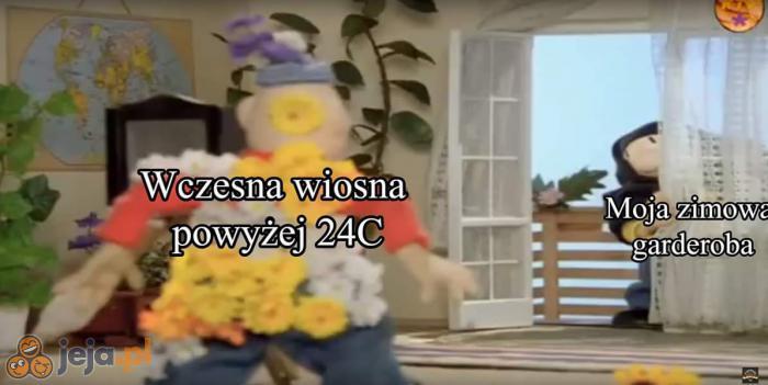 Tym razem wyjątkowo nie zima, a wiosna zaskoczyła Polaków
