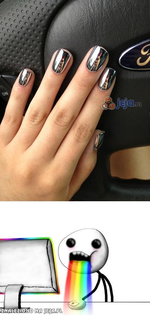Chromowane paznokcie