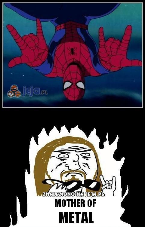 Spiderman lubi metal