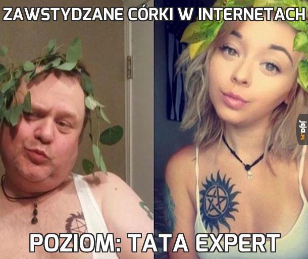 Zawstydzane córki w internetach