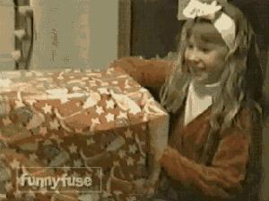 Tak powinno się cieszyć z prezentów