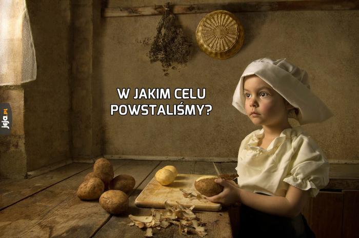 Kiedy obierasz ziemniaki i myślisz nad sensem życia