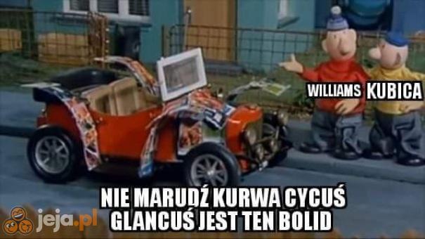 Williams do Kubicy o bolidzie