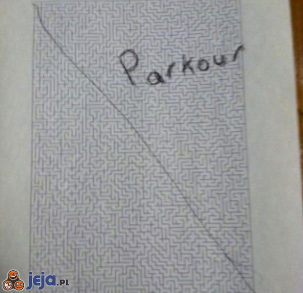 Parkour na kartce