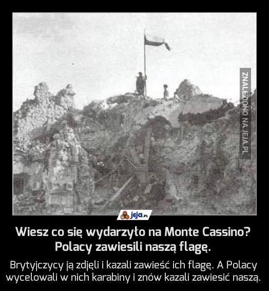 Wiesz co się wydarzyło na Monte Cassino? Polacy zawiesili naszą flagę.