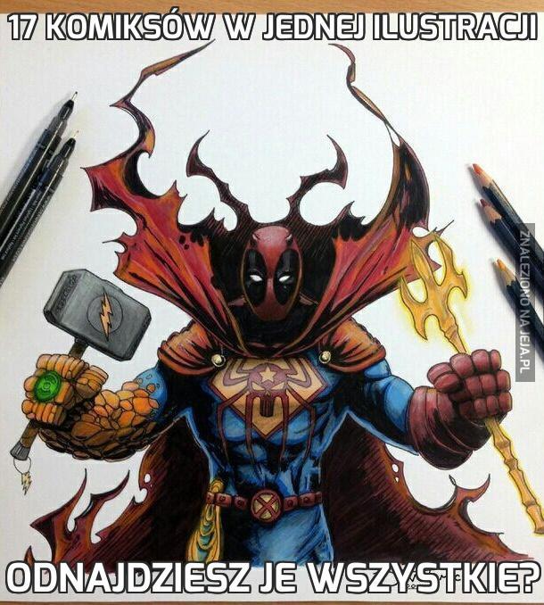 17 komiksów w jednej ilustracji