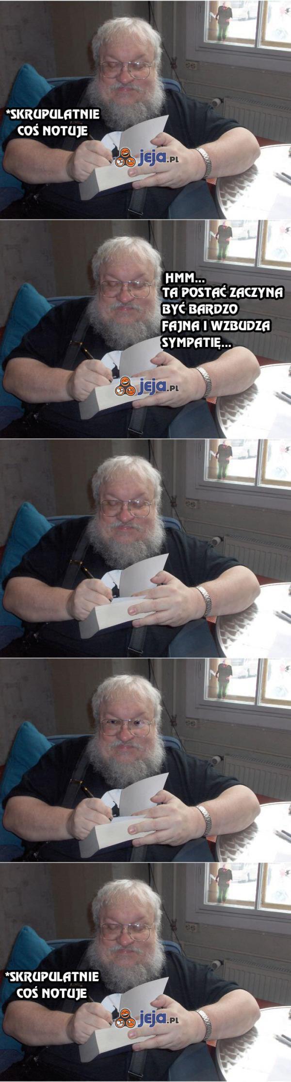 George R.R. Martin podczas pisania Gry o Tron
