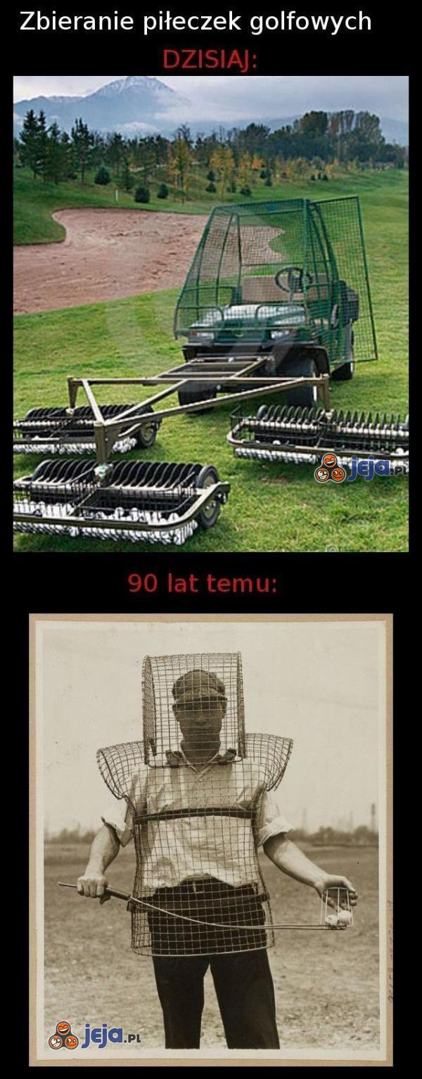 Zbieranie piłeczek golfowych